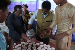 Khura and Dhun helping with tea in Juron