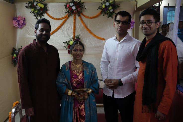 Sam, Pulak, Udipta and me