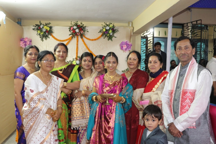 With family during my reception